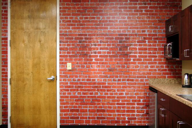 Brick Wall Mural Kitchen