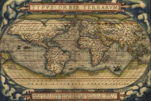 Antique World Map Mural 2