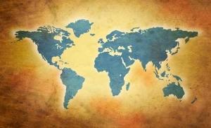 Designer World Map Mural