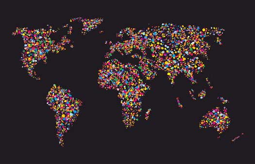 Girls Room World Map Mural