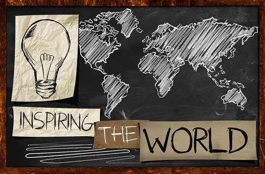 Inspiring World Map Mural