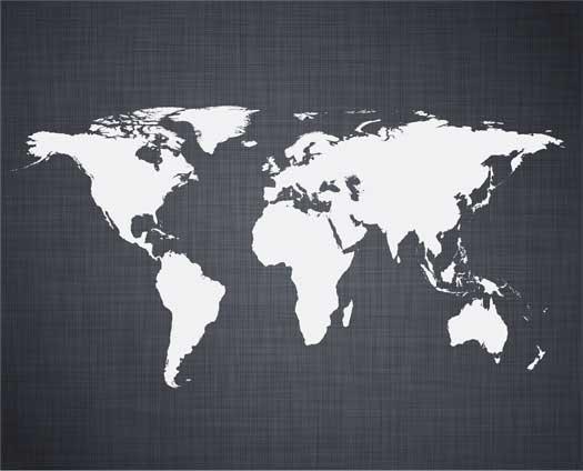 Linen World Map Mural