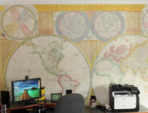 Our Totally Custom World Map Murals Bring the World to Your Walls