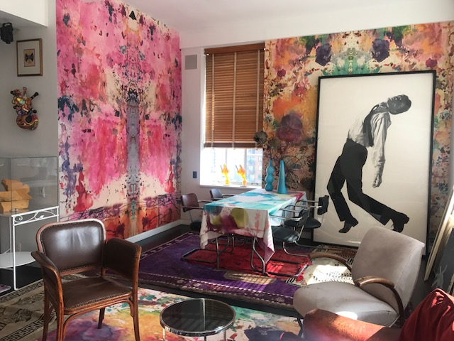 Artist Loft Wallpaper, Abstract Wallpaper, Colorful Wallpaper, Custom Abstract Wallpaper, Pink Wallpaper, Custom Residential Wallpaper