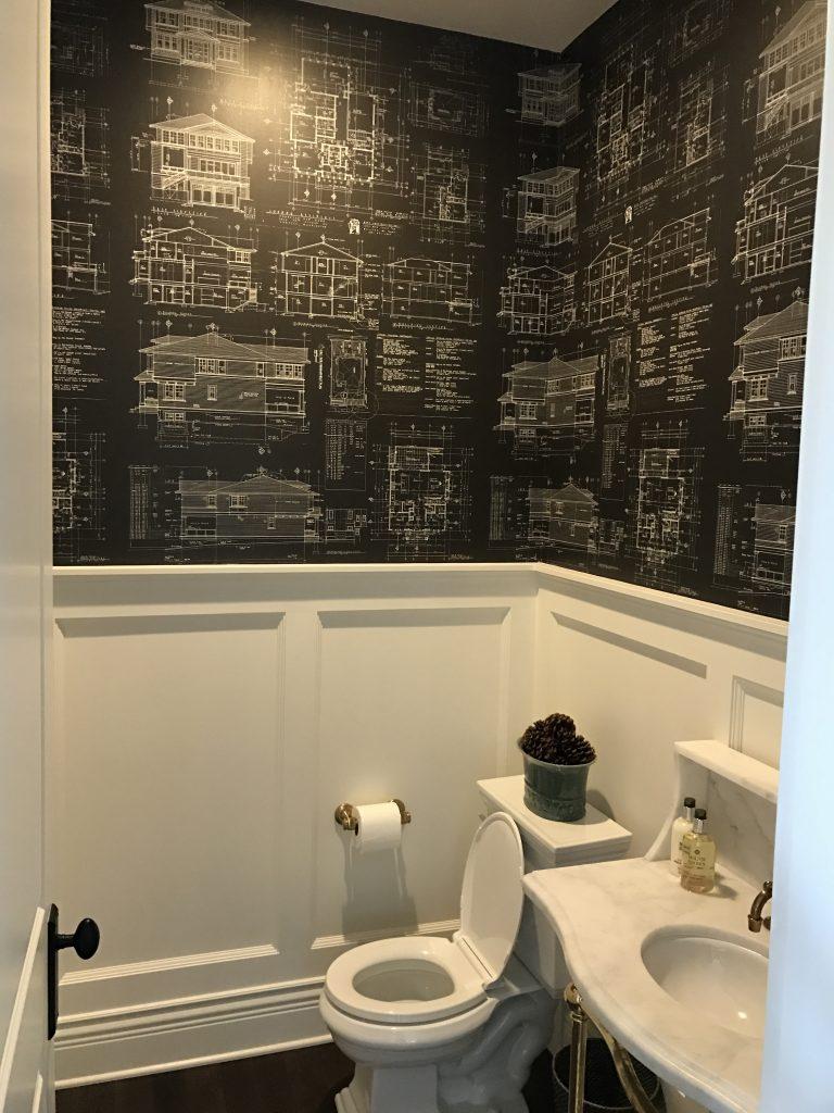 Residential Wallpaper, Custom Architectural Wallpaper, Architectural Plans Wallpaper, Design Plans Wallpaper, Architect Wallpaper