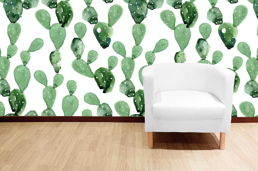 Bohemian Living Room Decor, Bohemian Wallpaper, Custom Jungle Wallpaper, Custom Palm Wallpaper, Custom Wallpaper, Green Wallpaper, Green Leaves Wallpaper, Jungle Wallpaper, cactus wallpaper, custom cactus wallpaper,