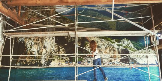 Installing Large Wall Mural, Custom Wall Mural, Beach Photo Mural, Custom Photo Mural,