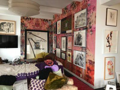 Artist Loft Wallpaper, Abstract Wallpaper, Colorful Wallpaper, Custom Abstract Wallpaper, Pink Wallpaper, Custom Residential Wallpaper
