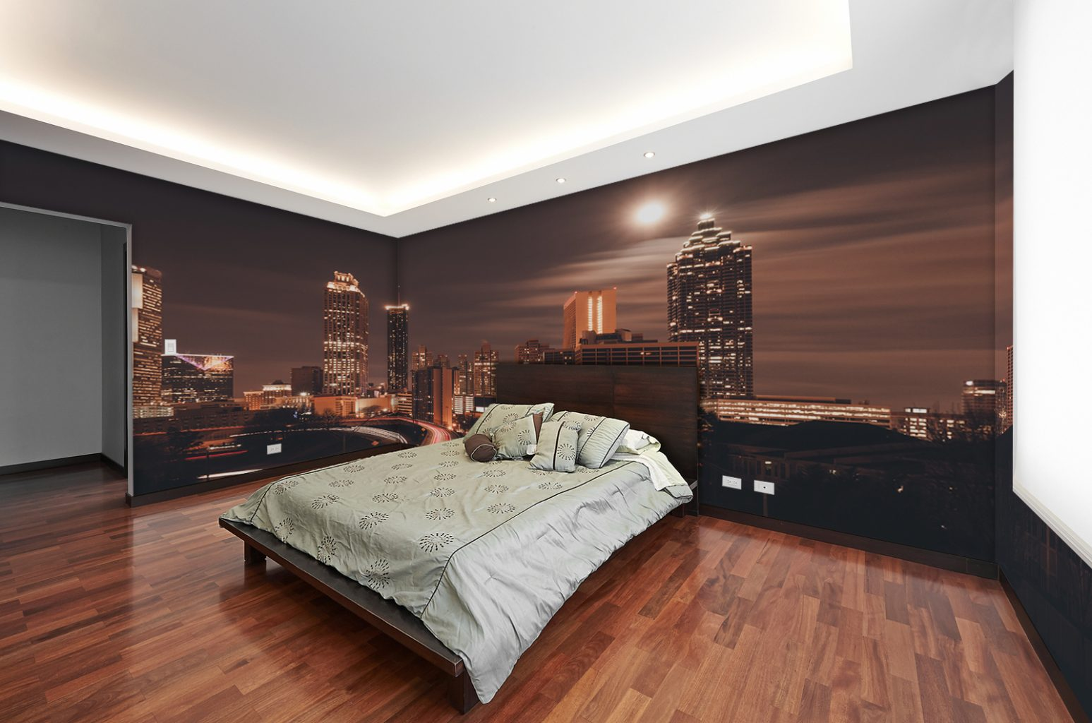 Interior Design Modern Big Bedroom Totally Custom Wallpaper